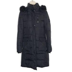 Ralph Lauren Puffer faux fur Coat Trench SZ M